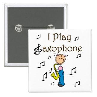 Saxophone Player Button