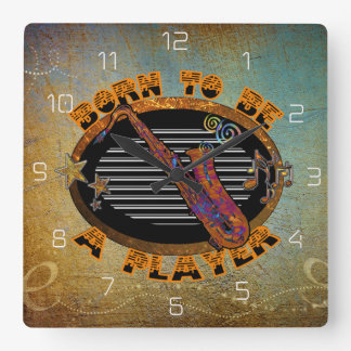 Saxophone Player Clock