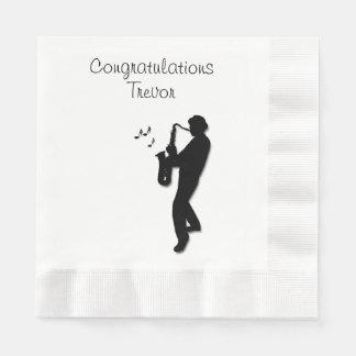 Saxophone Player Custom Congratulations Disposable Napkins