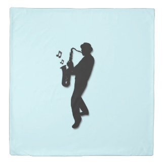 Saxophone Player Duvet Cover