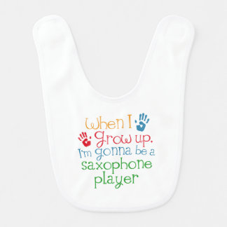 Saxophone Player (Future) Child Bib
