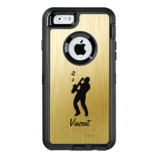 Saxophone Player Gold Personal OtterBox Defender iPhone Case