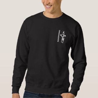 Saxophone Player Musician on Dark Sweatshirt