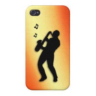 Saxophone Player Orange Flush iPhone 4/4S Cover
