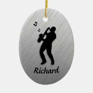 Saxophone Player Personal Ceramic Ornament