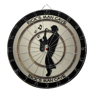 Saxophone Player Personal Man Cave Regulation Dartboard