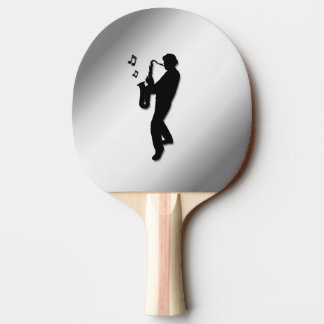 Saxophone Player Ping Pong Paddle