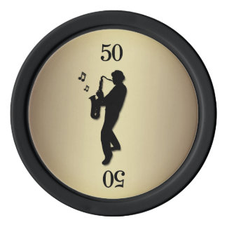 Saxophone Player Poker Chips