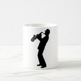 Saxophone Player Silhouette Coffee Mug