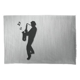 Saxophone Player Silver Pillowcase