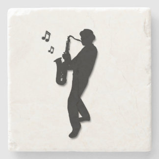 Saxophone Player Stone Coaster