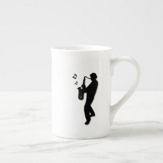 Saxophone Player Tea Cup