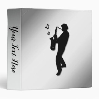 Saxophone Player Vinyl Binder