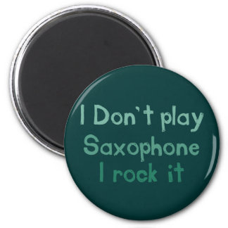 Saxophone Rock It Magnet