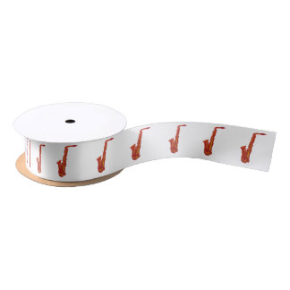 Saxophone Satin Ribbon
