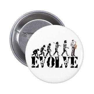 Saxophone Sax Evolution Musical Art Pinback Button