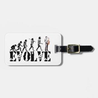 Saxophone Sax Evolution Musical Art Luggage Tag
