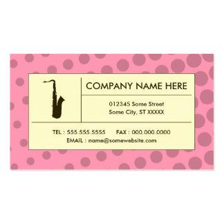 saxophone tramé carte de visite