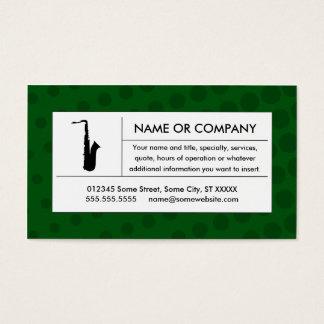 saxophone tramé cartes de visite