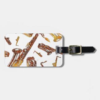 Saxophones11.jpg Luggage Tag