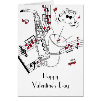 Saxy Valentine's Day Card