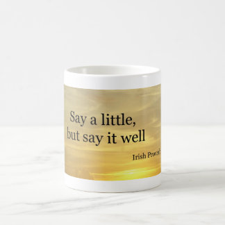 Say a little classic white coffee mug
