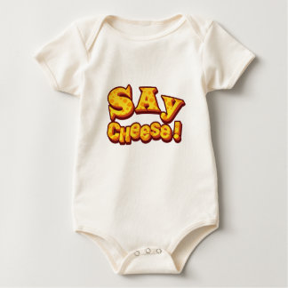 say cheese! baby bodysuit