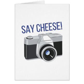 Say Cheese Card