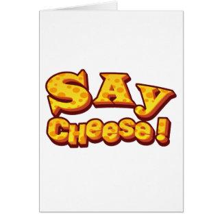 say cheese! card