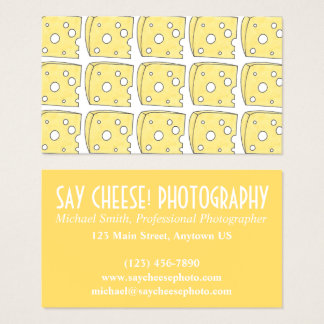 Say Cheese Photographer Photography Swiss Cheese Business Card