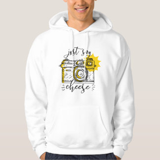 """Say Cheese"" Retro Camera Photographer Photography Hoodie"