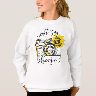 """Say Cheese"" Retro Camera Photographer Photography Sweatshirt"