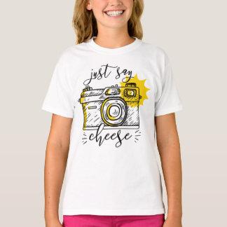 """Say Cheese"" Retro Camera Photographer Photography T-Shirt"