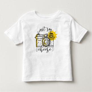 """Say Cheese"" Retro Camera Photographer Photography Toddler T-shirt"