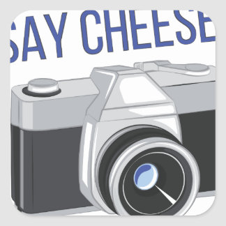 Say Cheese Square Sticker