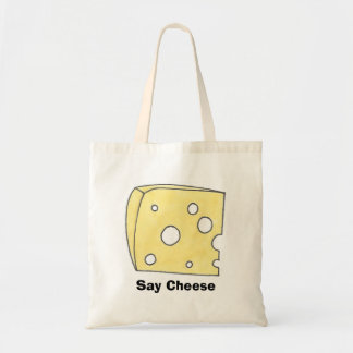 Say Cheese Swiss Cheeses Wedge Dairy Food Tote