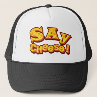 say cheese! trucker hat
