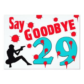Say Goodbye To 29 A 30th Birthday Celebration Card