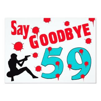 "Say Goodbye To 59 A 60th Birthday Celebration 5"" X 7"" Invitation Card"