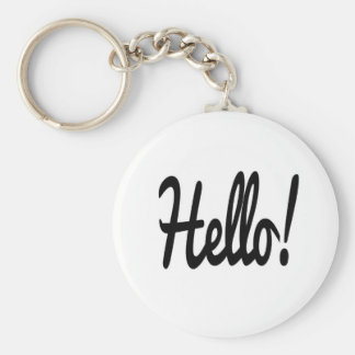say-hello basic round button keychain