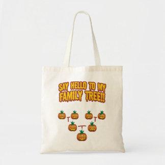 Say Hello To My family Tree Canvas Bag