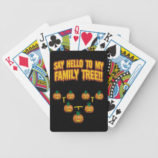 Say Hello To My family Tree Playing Cards
