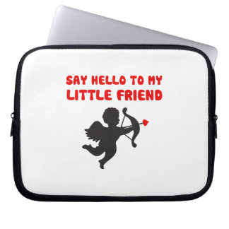 Say Hello To My Little Friend Valentine's Day Laptop Sleeve