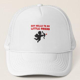 Say Hello To My Little Friend Valentine's Day Trucker Hat