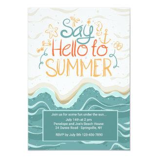 Say Hello to Summer Invitation