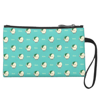 Say Hello to the Apple Suede Wristlet