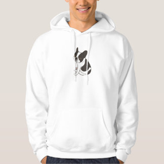 Say hello to the cute double hooded pied Frenchie Hoodie