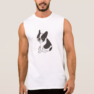 Say hello to the cute double hooded pied Frenchie Sleeveless Shirt