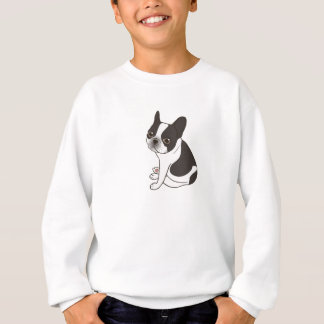 Say hello to the cute double hooded pied Frenchie Sweatshirt