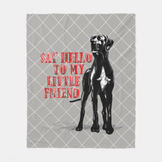 Say hello to the small one. Medium sized cover Fleece Blanket